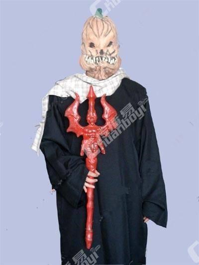 万圣节南瓜人头装扮服装