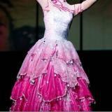 粉色长裙-开场舞现代舞服装