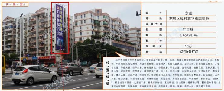 东莞市东城区樟村文华花园墙身广告牌