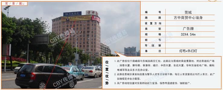 东莞市莞城区方中商贸中心墙身广告牌