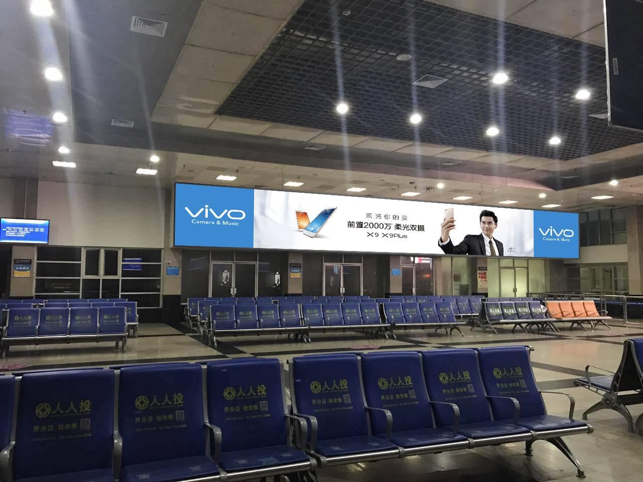广西桂林市桂林站火车站高铁站进站大厅灯箱媒体广告位