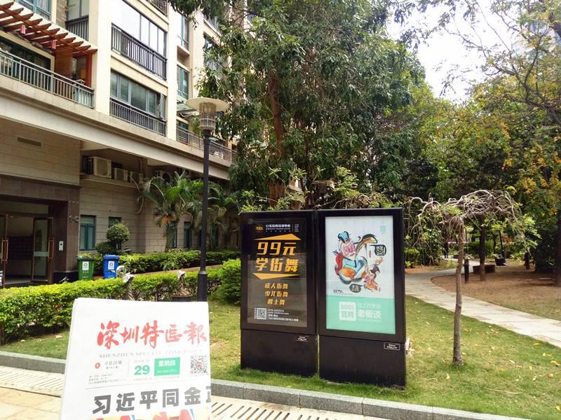 深圳市小区灯箱广告