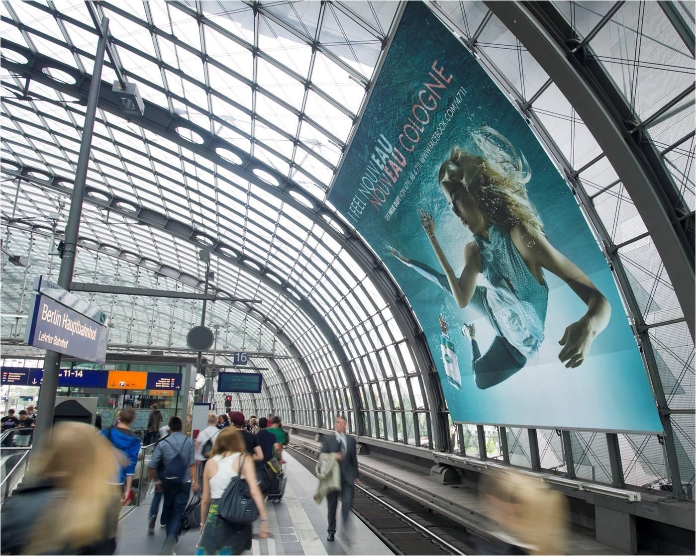 海外德国柏林中心火车站广告牌