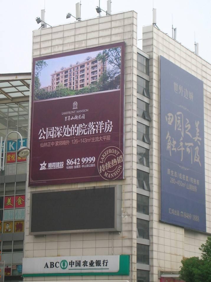南京仙林大学城 大成名店墙体广告牌