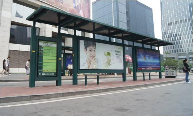 广州市公交候车亭灯箱广告(一个月)