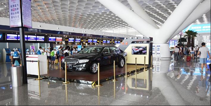 新郑国际机场出发大厅展位