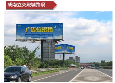 成南立交绕城路段外测单立柱大牌广告