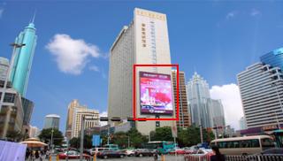 深圳市罗湖区鼎丰大厦南侧墙体LED  15秒,120次/天