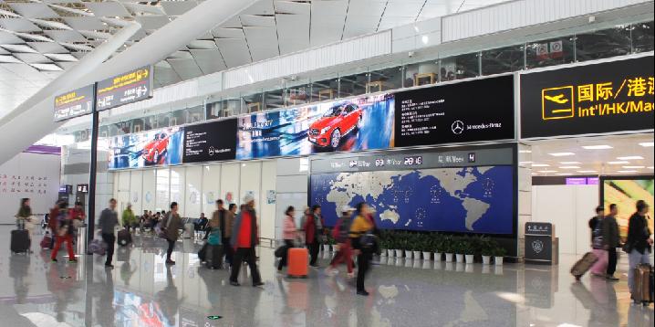 新郑国际安检前灯箱
