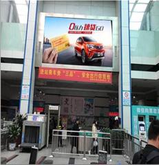 深圳沙井客运站安检入口正上方广告位/24平方米