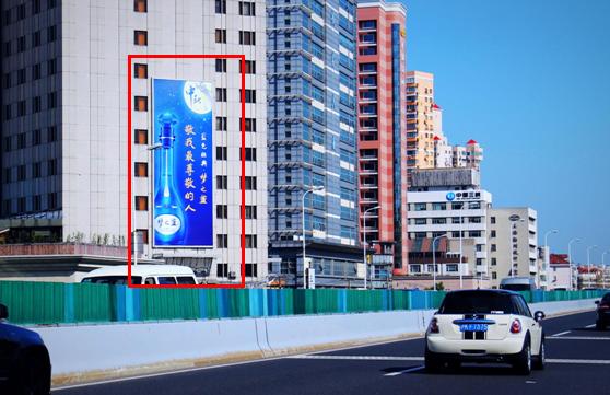 上海户外大牌广告(逸仙路高架 纪念路301号 宝丰联大酒店 东南面墙面广告位)