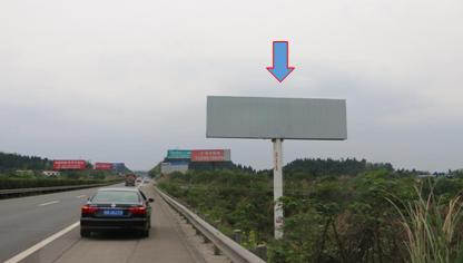 遂渝高速单立柱广告 方向右侧