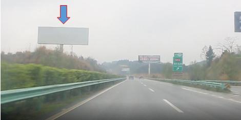 成德南高速单立柱广告 方向左侧(建兴、义兴183公里处)