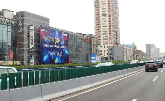 上海户外大牌广告(中山北路3018号 长城大厦 墙面广告位 )