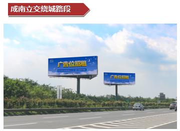 成南立交绕城路段内测单立柱大牌广告