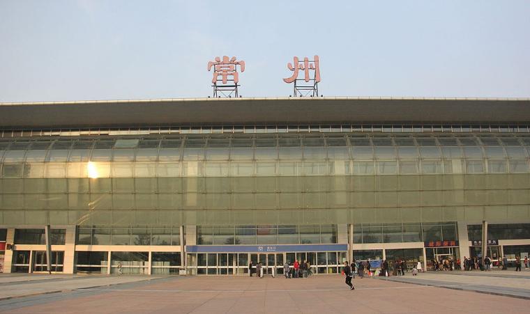 江苏高铁常州站LED大屏扶梯两侧(2块)