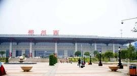 郴州西站高铁站候车厅55吋LCD显示屏广告(3面)