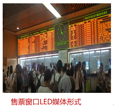 贵阳客车站售票窗口LED屏(5秒  60次/天  一周)