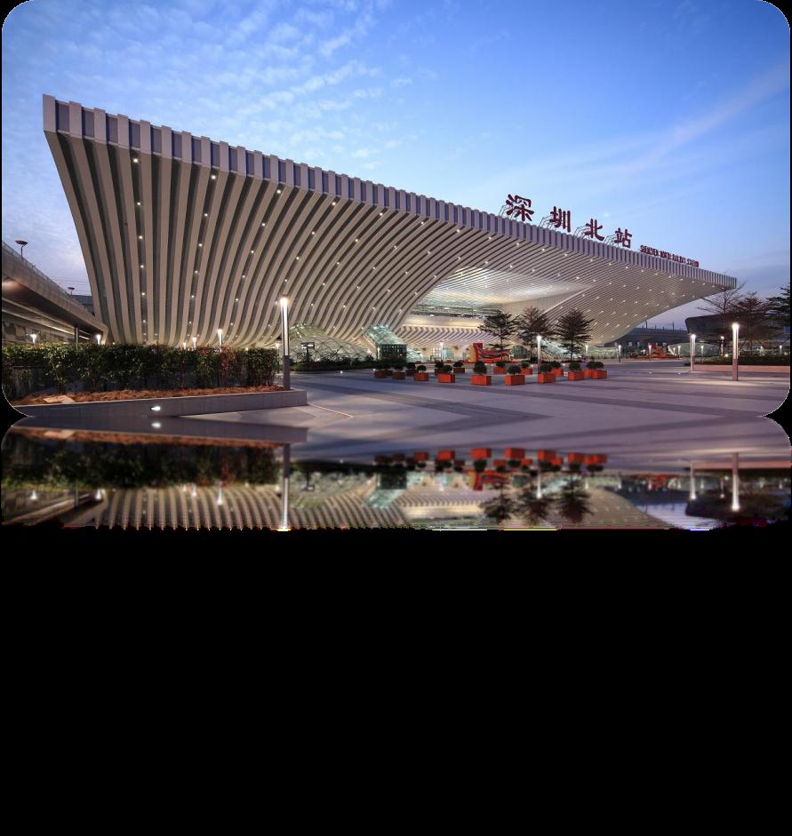 深圳北站高铁站候车厅候车厅105吋LED显示屏广告(38面)