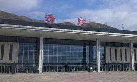 清远站高铁站55吋LCD显示屏广告(3面)