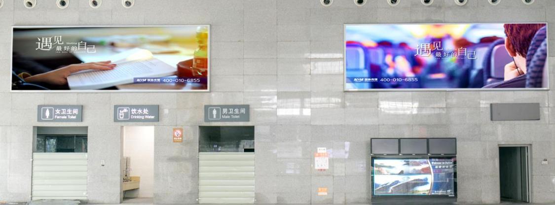 福州南站高铁西站房候车夹层灯箱广告(01/02一个月)