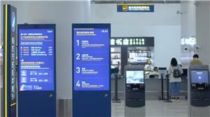 海口美兰国际机场公共信息屏-凤尾