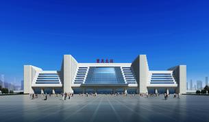 重庆北站高铁站检票口105吋LED屏幕广告(42面)