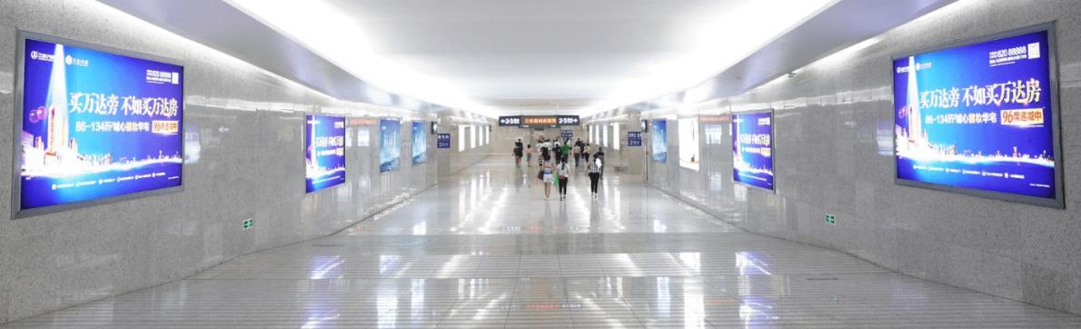 三水南站进出站通道两侧灯箱广告(一个月)