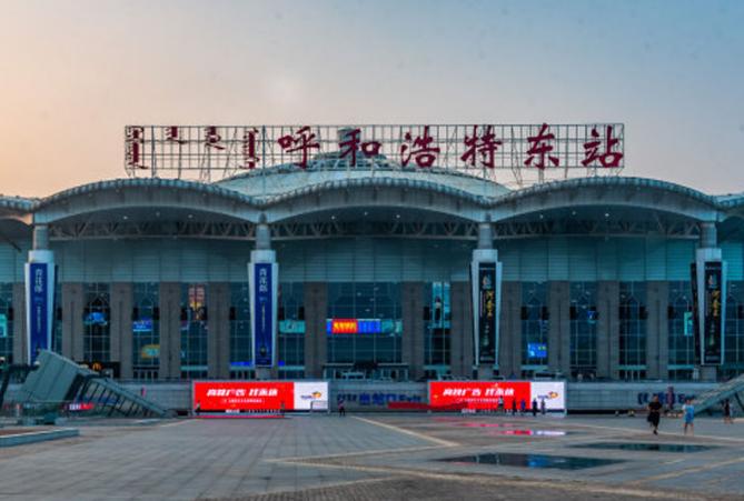 内蒙古高铁呼和浩特东站LED大屏一楼进站大厅(2块)