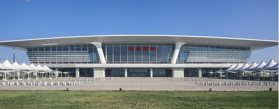 天津高铁滨海西站LED大屏候车大厅两侧(2块)