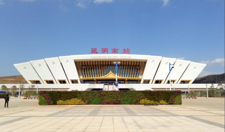 云南高铁昆明南站LED大屏进站检票口两侧(58块)
