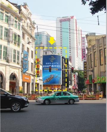 广州市北京路步行街LED广告大屏(一周)
