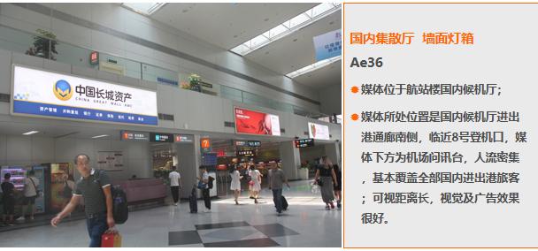福州机场国内换票厅墙面灯箱广告(一年)Ae36
