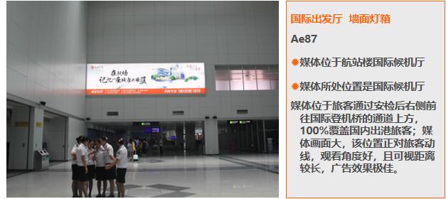 福州机场国内国内到达厅墙面灯箱广告(一年)AD50