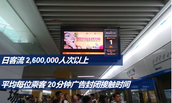 成都地铁7号线LCD屏电视广告