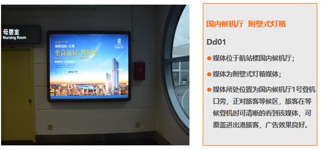 厦门机场T3国内候机厅附壁式灯箱广告(一年)Dd01