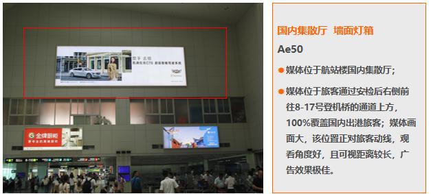 福州机场国内换票厅墙面灯箱广告(一年)Ae50