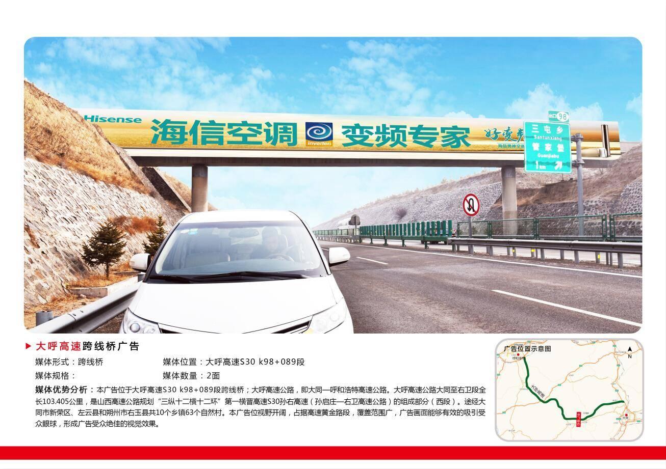 山西大呼高速S30高速路牌广告
