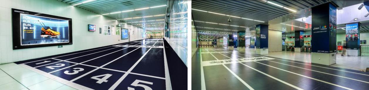 北京地铁8号线奥体中心品牌区域广告(4周)