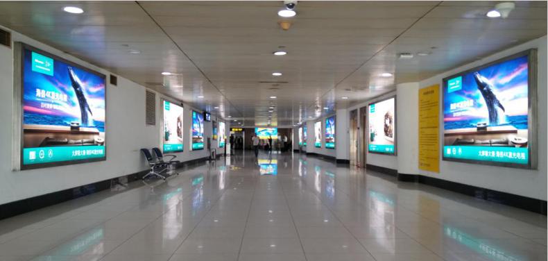 青岛机场T1出发层墙面灯箱广告(一个月)DY-Q1-T1至 DY-Q11-T1