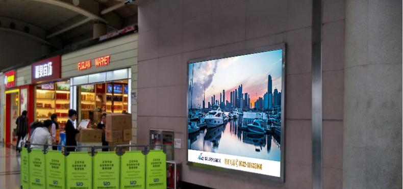青岛机场T1出发层墙面灯箱广告(一个月)CA-Q5-T1