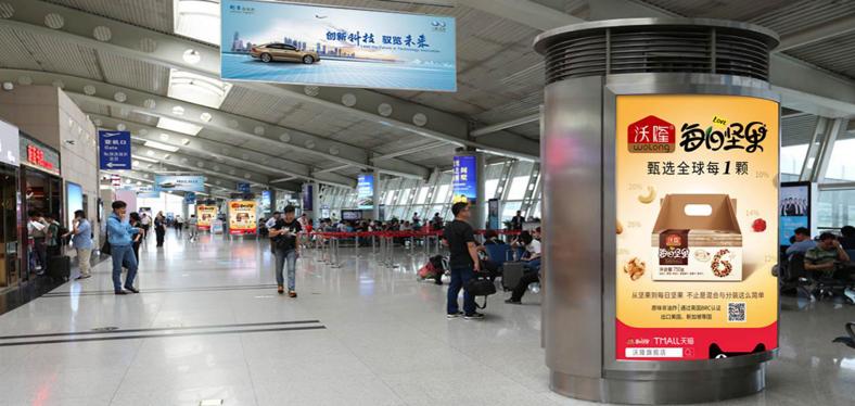 青岛机场T1出发层通风口灯箱广告(一个月)