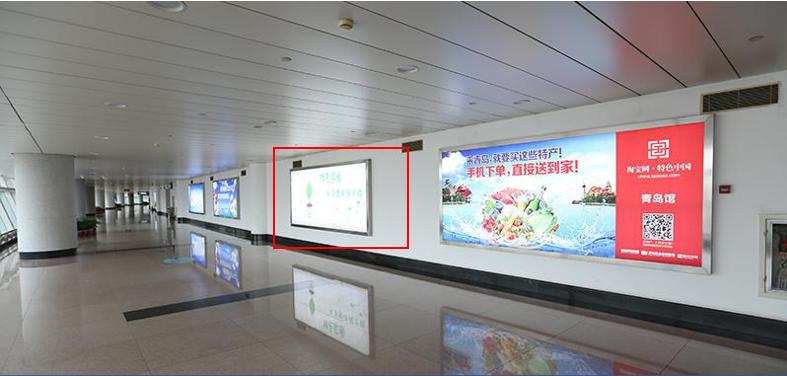 青岛机场T1出发层灯箱广告(一个月)JC-Q8-T1