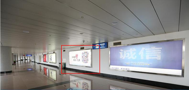 青岛机场T1出发层灯箱广告(一个月)JC-Q2-T1
