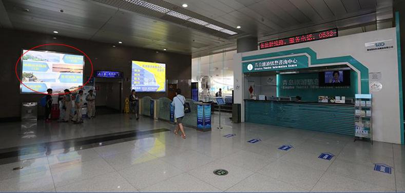 青岛机场T1出发层墙面灯箱广告(一个月)DT-Q5-T1