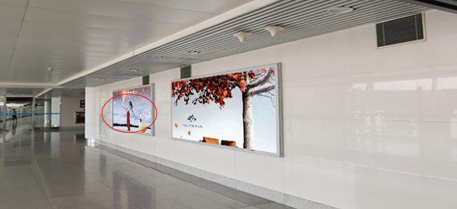 青岛机场T2到达层墙面灯箱广告(一个月)JC-Q4-T2