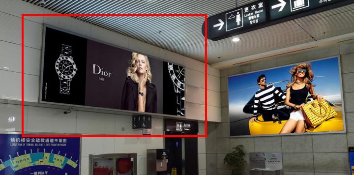 青岛机场T2出发层墙面灯箱广告(一个月)DA-Q19-T2