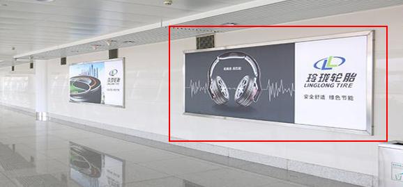青岛机场T2到达层墙面灯箱广告(一个月)JC-Q31-T2