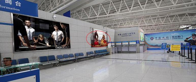 青岛机场T2出发层墙面灯箱广告(一个月)CT-Q9-T2
