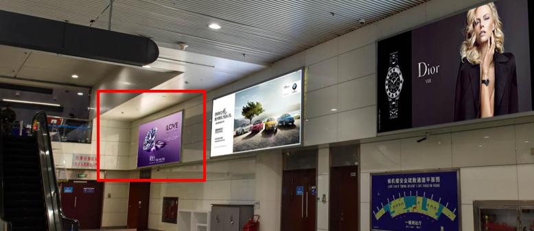 青岛机场T2出发层墙面灯箱广告(一个月)DA-Q17-T2
